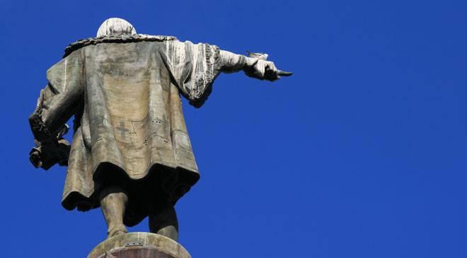 L'estàtua de Cristòfol Colom a Barcelona
