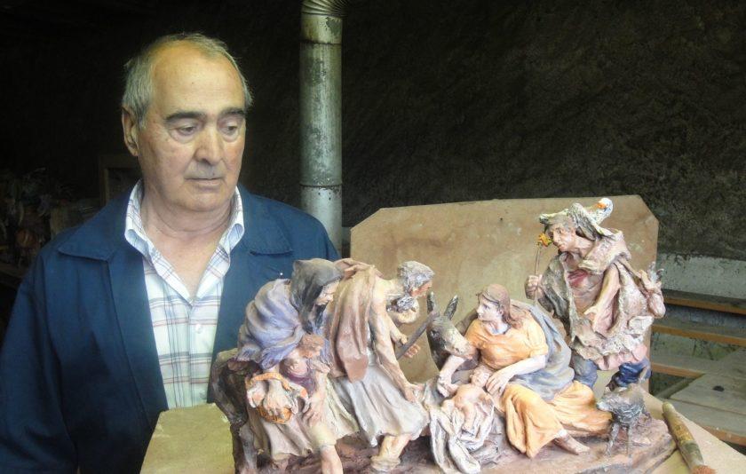 Josep Traité a la Sala Oberta del Museu de la Garrotxa