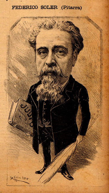 Caricatura de Frederic Soler, 'Pitarra'