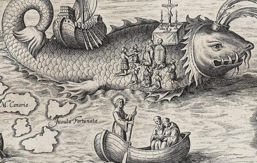 Sant Brandà, un mariner sobre l'oceà de la fantasia