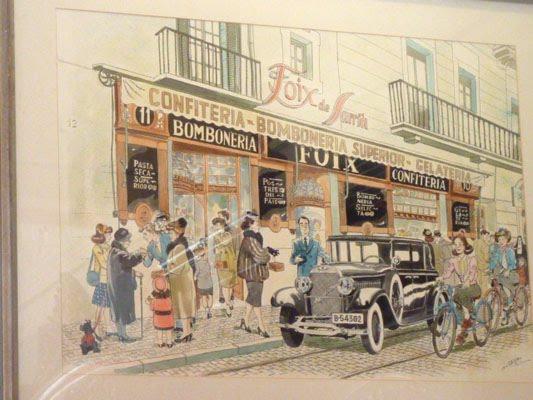 Una il·lustració de la façana de la pastisseria Foix de Sarrià