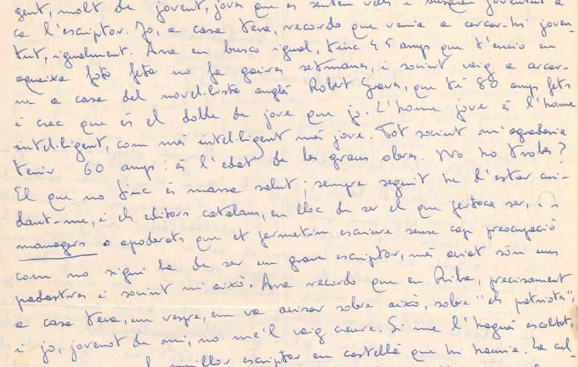 Les cartes que Blai Bonet va escriure a Xavier Benguerel