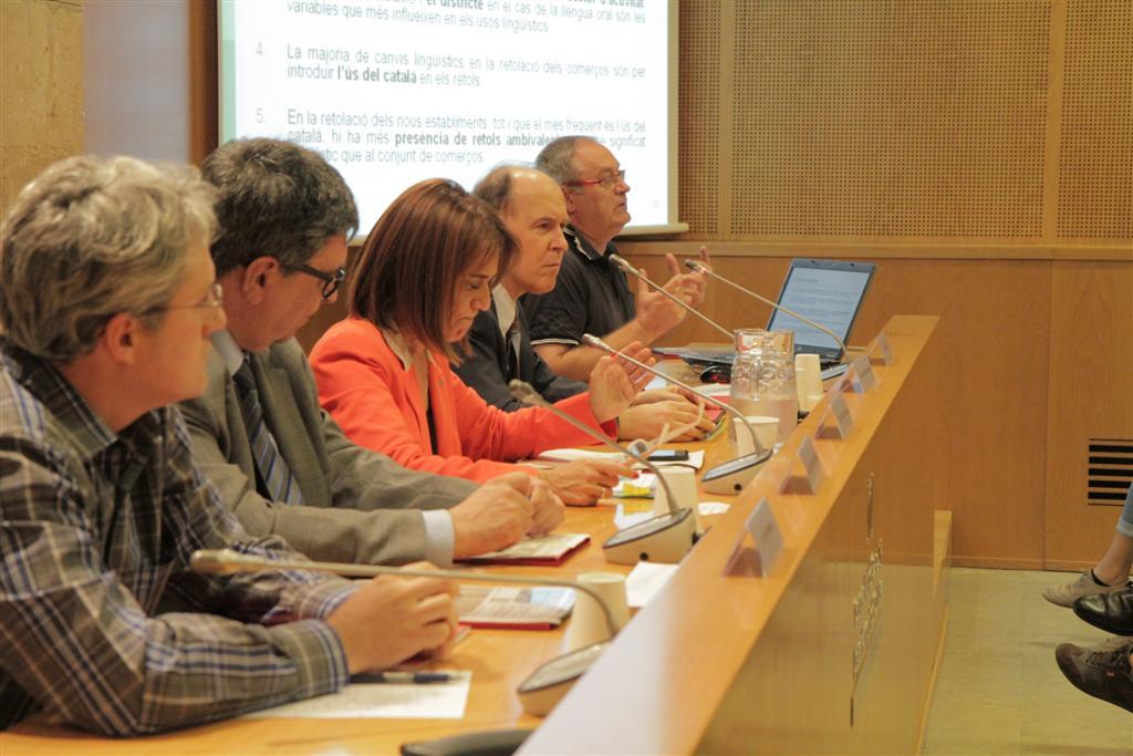 Jordi Manent, Josep Maria Recasens, Ester Franquesa, Joan Solé i Albert Fabà a la presentació | Foto: Gencat