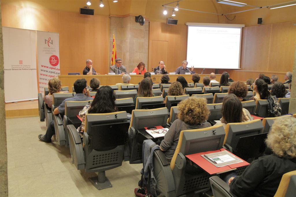 Jordi Manent (dreta) parla de les perspectives de futur del CNL | Foto: Gencat