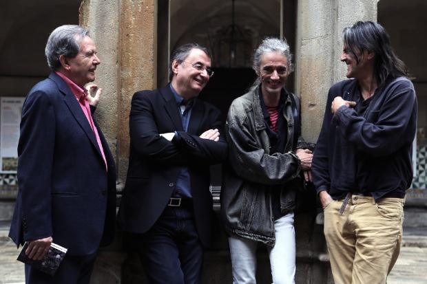 Ricard Torrents, Vicent Partal, Enric Casasses i Perejaume | Foto: Noemí Roset