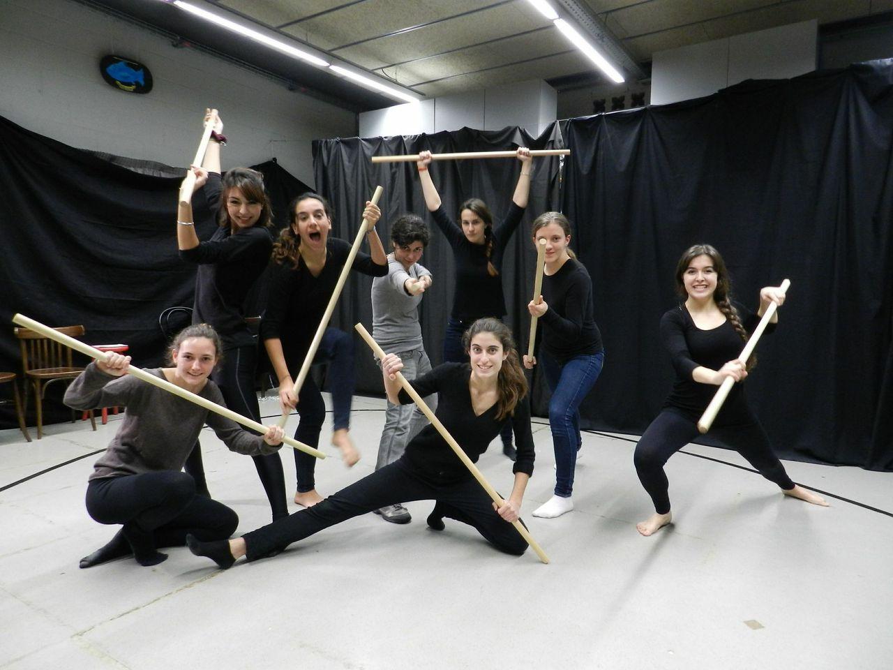 Les participants de l'Aula de Teatre. © Alba C.Coll