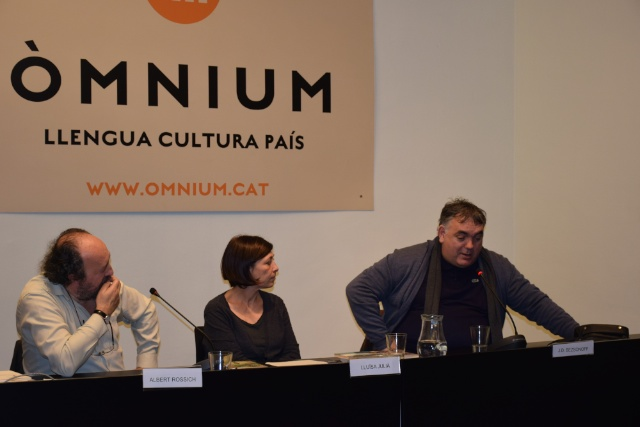 Albert Rossich, Lluïsa Julià i Joan-Daniel Bezsonoff a Omnium