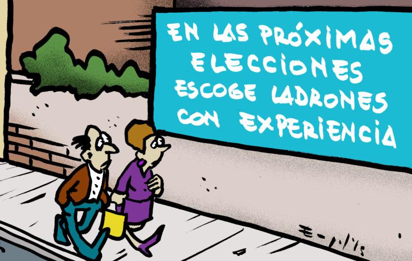Les properes eleccions voteu lladres amb experiència!