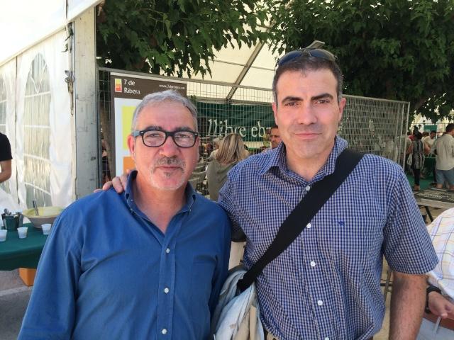Andreu Carranza amb Francesc Serés a Móra d'Ebre