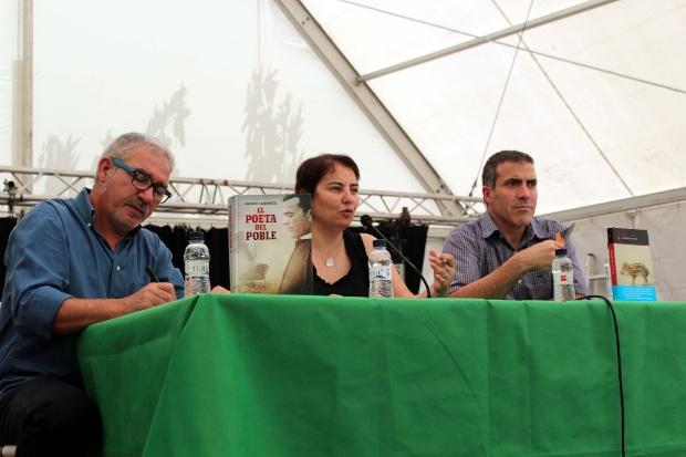 Andreu Carranza conversa amb F Serés | Foto Litterarum