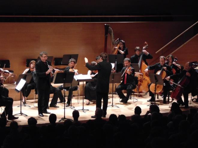 El clarinetista Josep Fuster actuant amb l'Orquestra de Girona