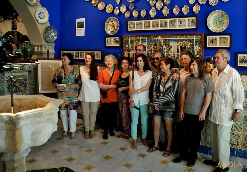 Grup de poetes al Cau Ferrat | Foto: Carles Arola