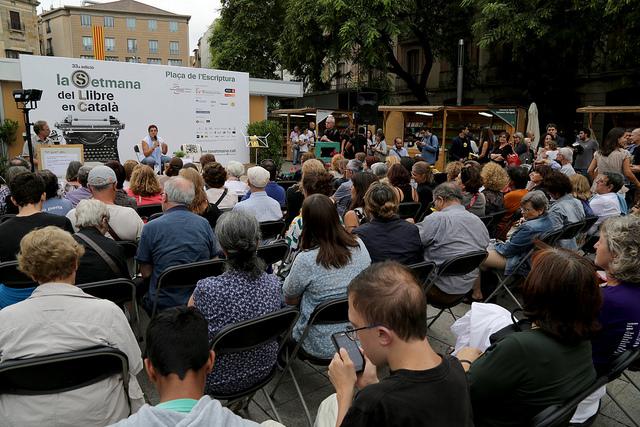 El públic assisteix a una de les activitats de La Setmana