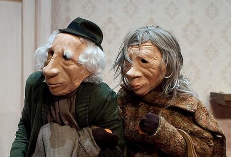 Els protagonistes d''André y Dorine', de Kulunka Teatro.