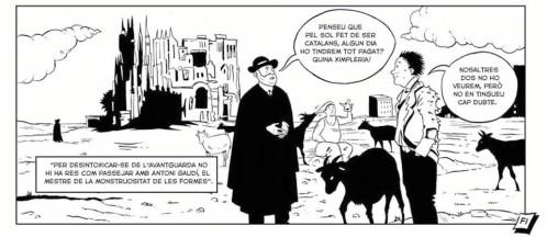 Una de les vinyetes del còmic de Francesc Pujols, editat per Males Herbes