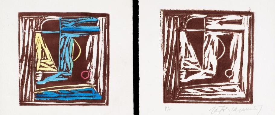 Estampes calcogràfiques d'Albert Ràfols-Casamada