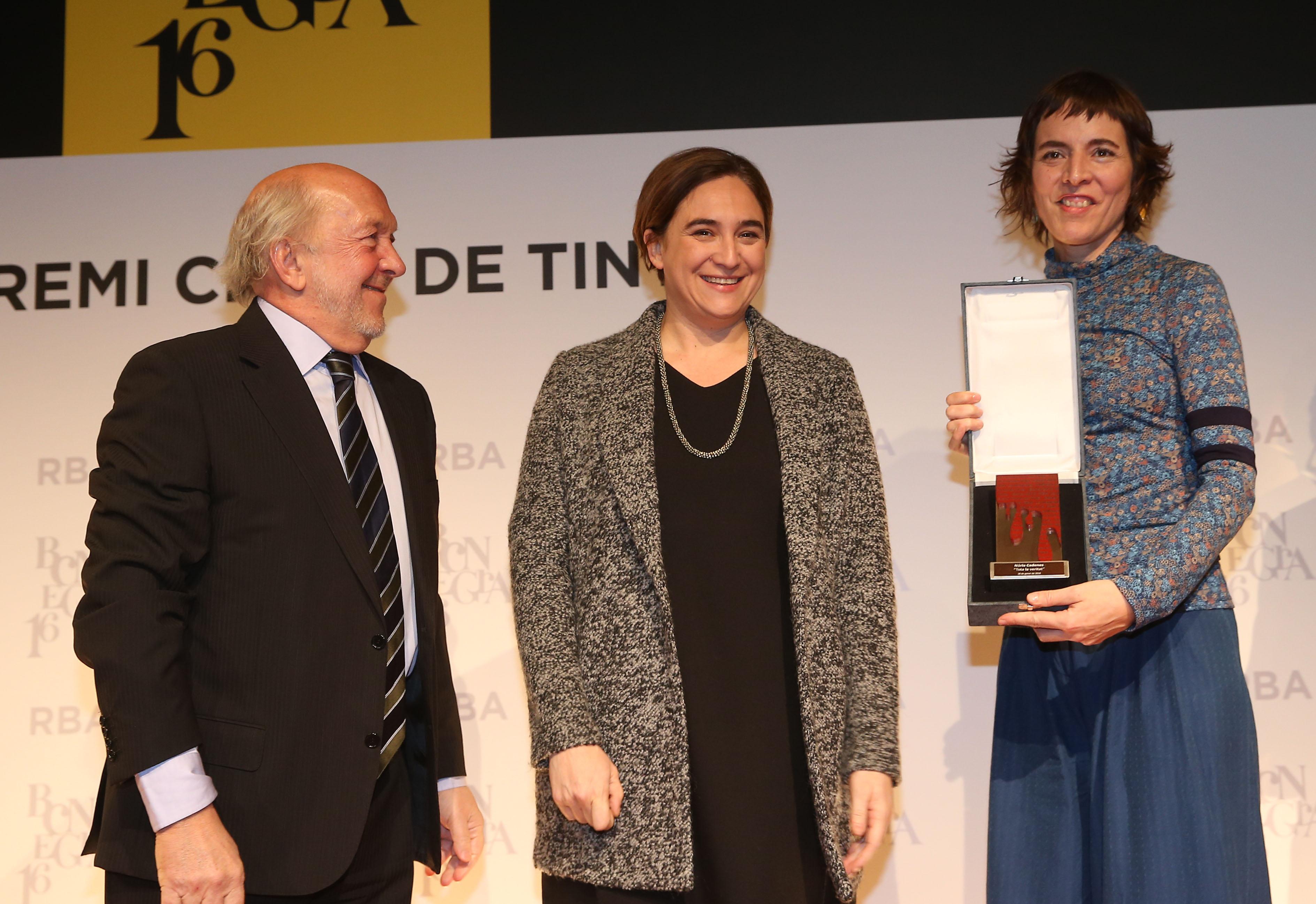 Ricardo Rodrigo, Ada Colau i Núria Cadenes   Premsa RBA.
