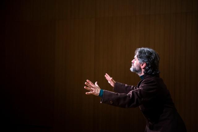 Roberto G. Alonso és Àngel Guimerà. Fotografia d'Anna Queralt.