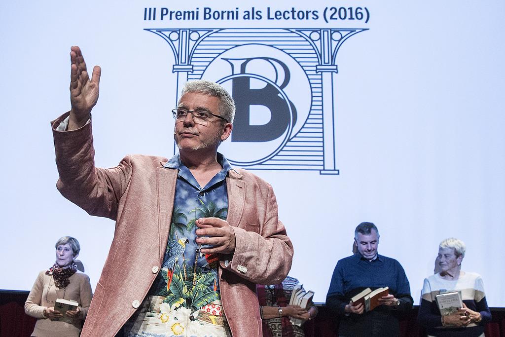 Màrius Serra durant el lliurament del Premi Borni 2016   Foto: Pere Virgili