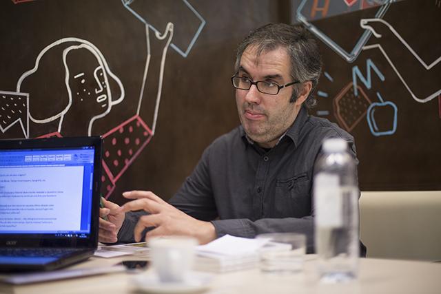 Jordi Raventós, editor d'Adesiara Editorial  Foto: © Laia Serch