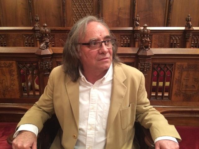 Eduard Sanahuja al Salo de Cent | Foto Bernat Puigtobella