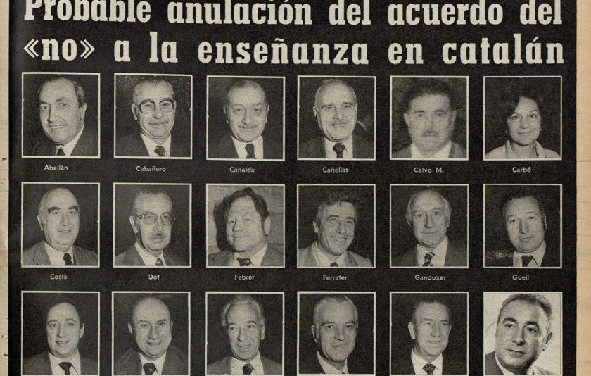 Els 18 regidors del NO al català