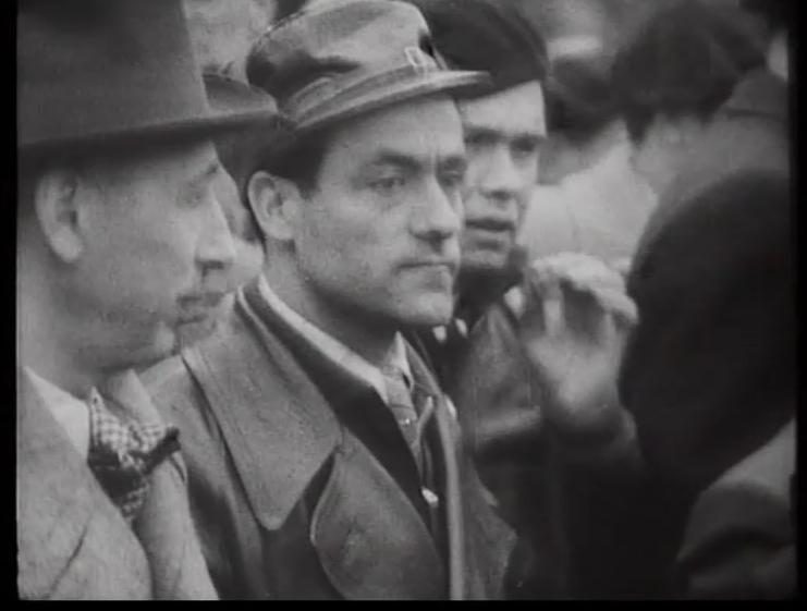 Lluís Companys i Garcia Oliver a l'homenatge a Durruti