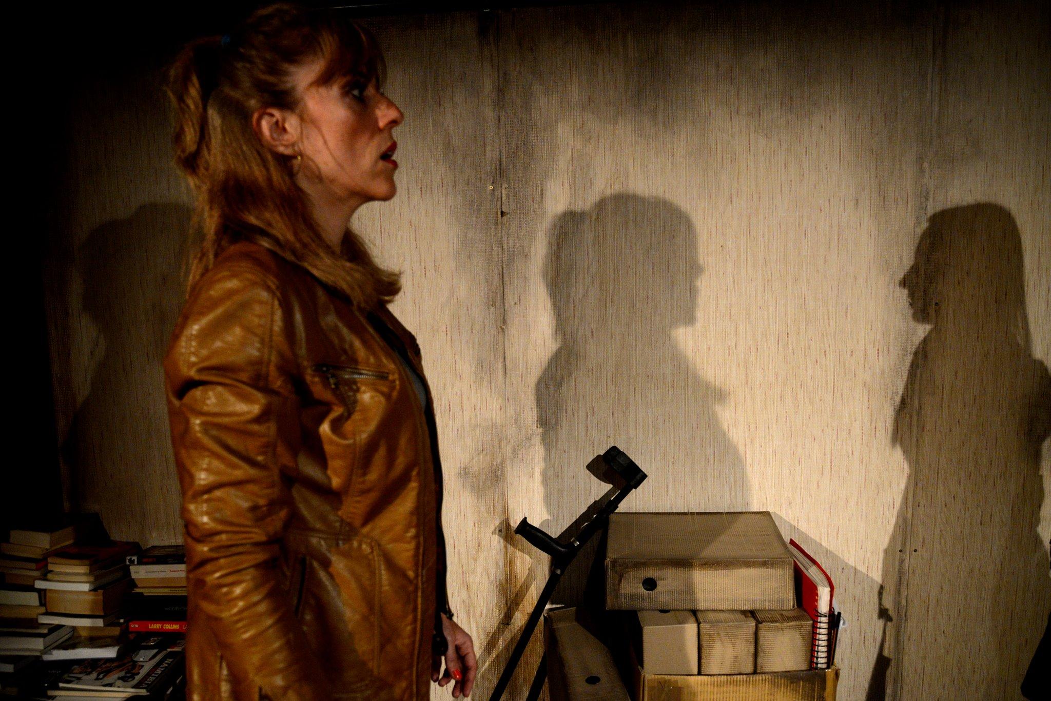 Gemma Deusedas a 'Es fa fosc', de Jordi Centelles, a la Sala Flyhard. @ Roser Blanch