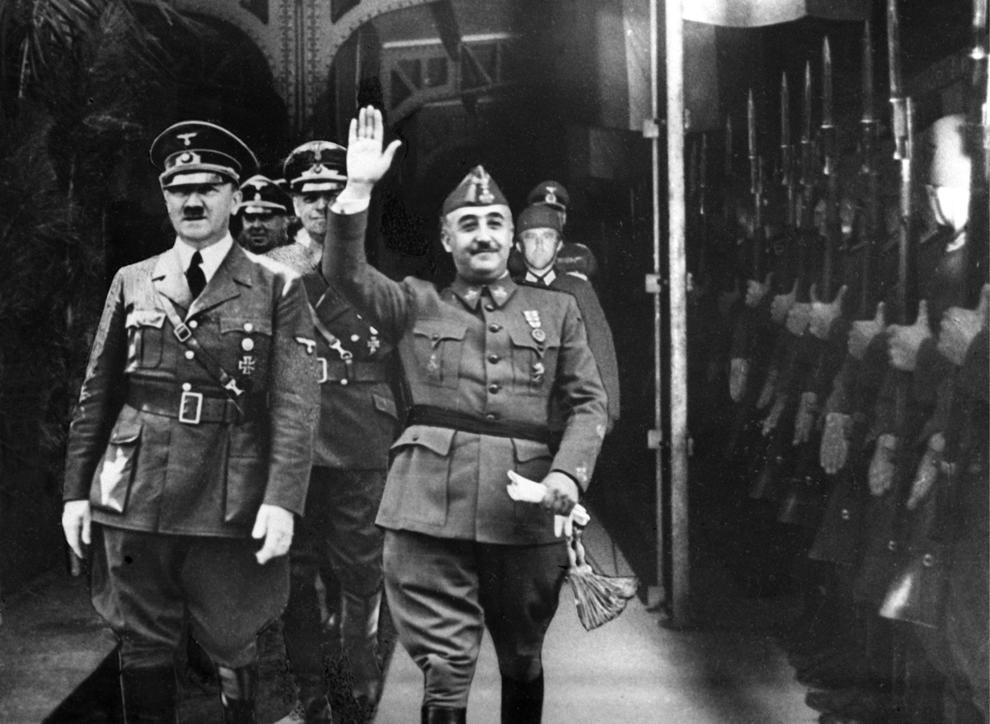 Entrevista de Franco amb Hitler | Fotografia difosa a Espanya per l'Agència EFE