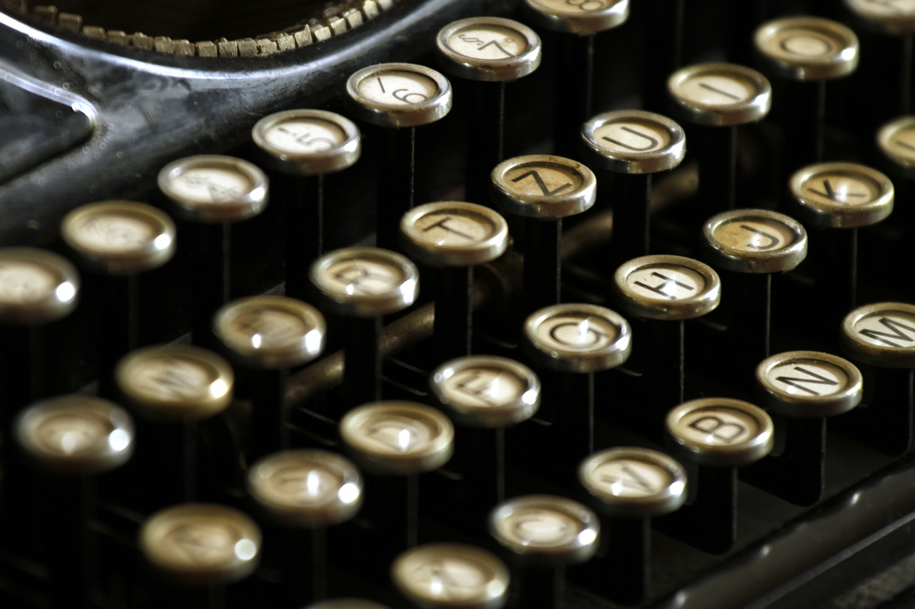 Una màquina d'escriure antiga | Foto: Pixabay