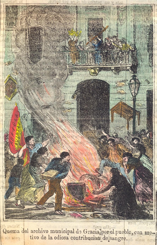 Crema de l'Arxiu Gràcia | Foto: La Campana de Gràcia