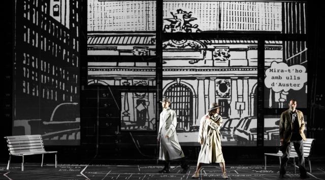La companyia Obskené presenta 'Ciutat de vidre' al Grec. © La Costas