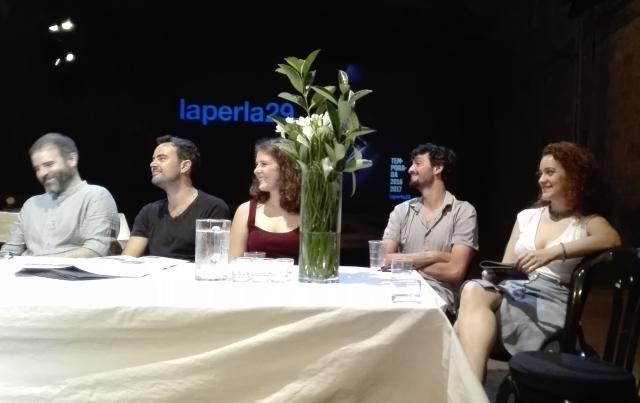 Pau Carrió, Pau Roca, Clara de Ramon, Sergi Torrecilla i Júlia Barceló a la presentació