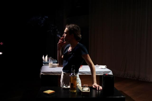 Un moment de 'Top girls' a l'Akadèmia. © Maria Contreras