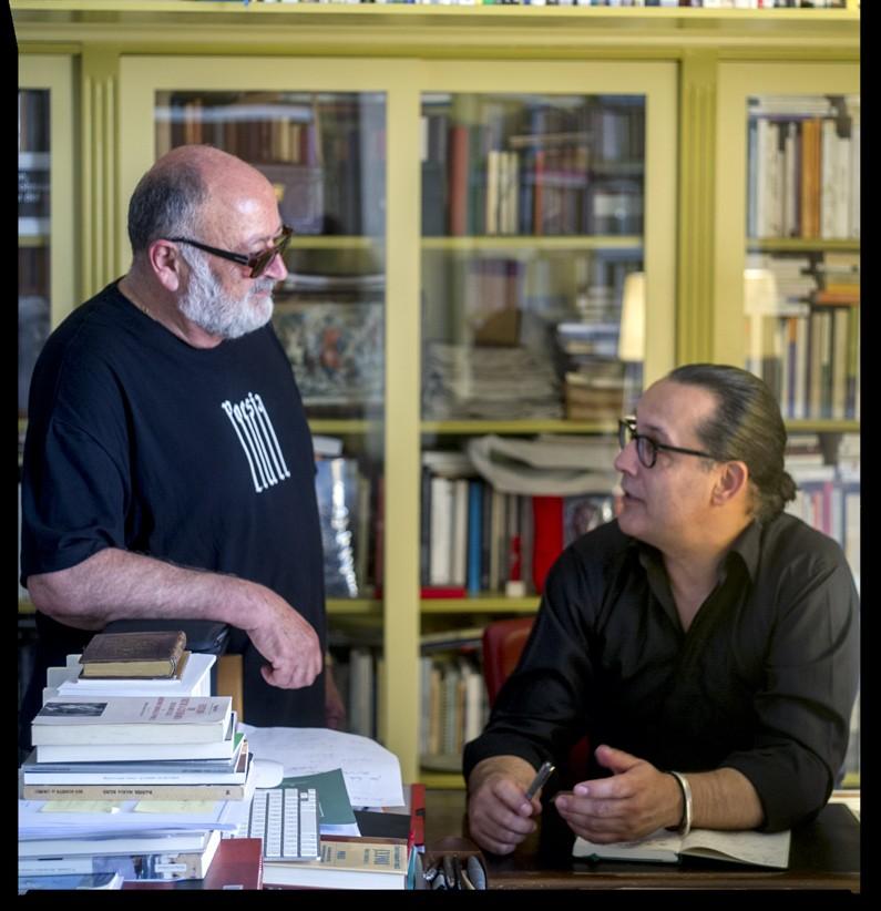 Biel Mesquida conversa amb Sebastià Perelló | Foto Jean Maria del Moral