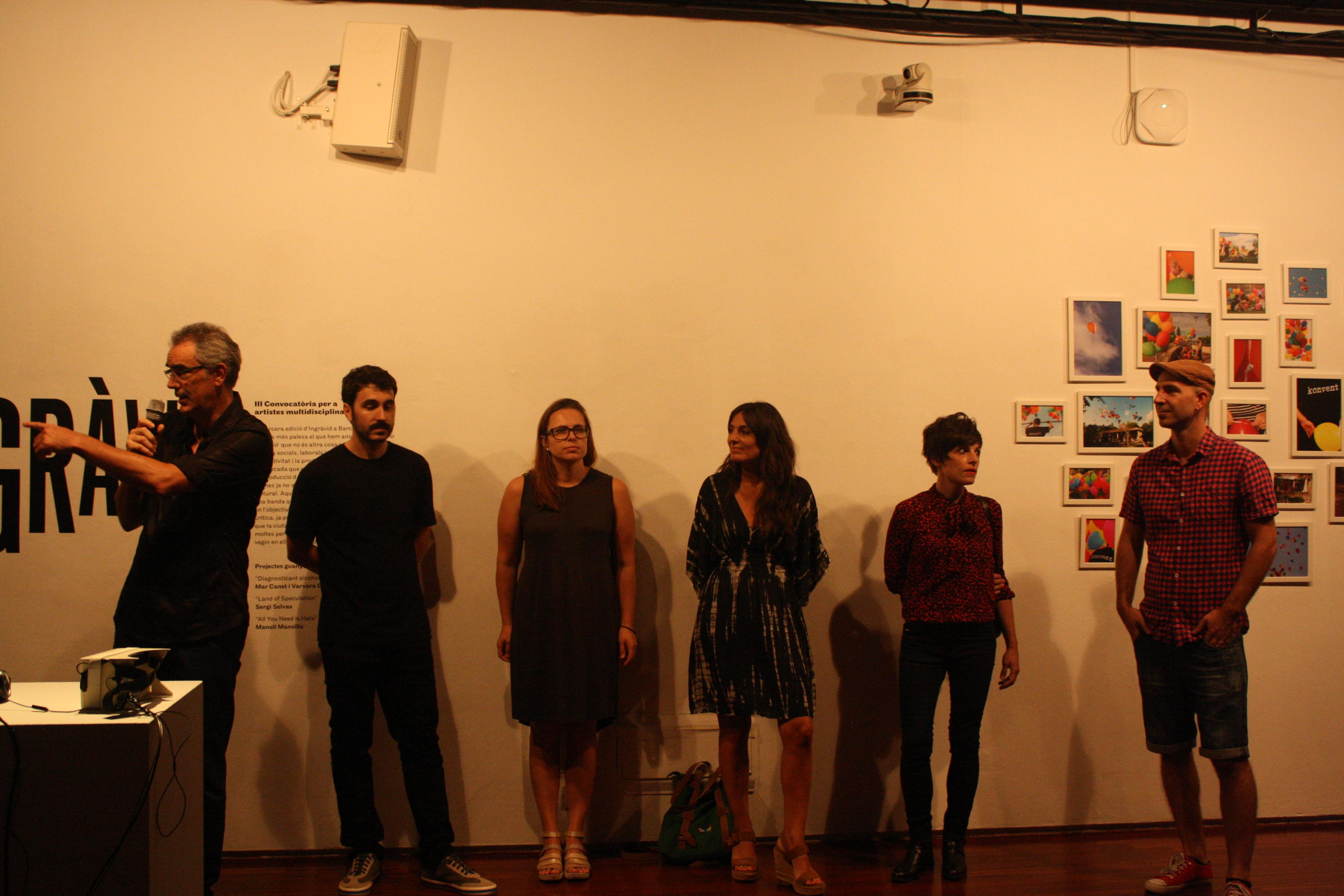 Els guanyadors de l'Ingràvid. Fotografia de Júlia Bacardit