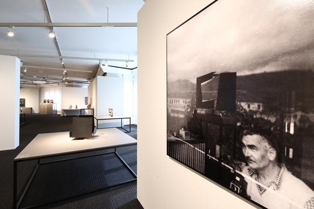 Autorretrat d'Oteiza a l'exposició que li dedica la Fundació Catalunya-La Pedrera | Foto: Fundació Catalunya-La Pedrera