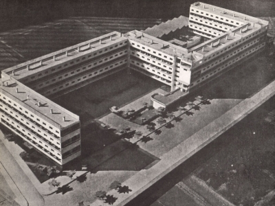 Així era com Sert, Torres i Baptista imaginaven la Casa Bloc | Foto: Museu del Disseny de Barcelona