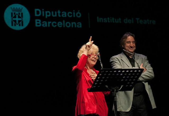 Magda Puyo i Juanjo Puigcorbé a la inauguració del curs acadèmic de l'Institut del Teatre.