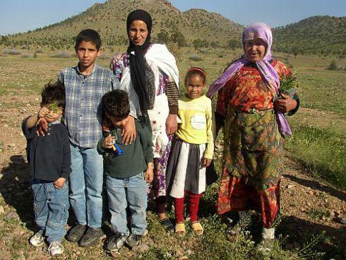 Una família mora del nord d'Àfrica.