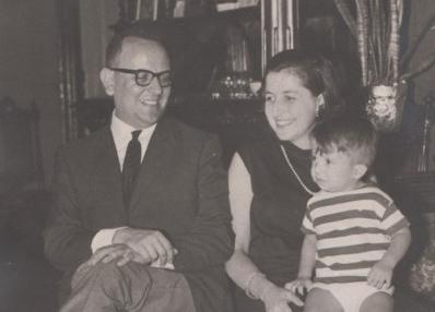 Josep Gomà, amb la seva dona, Montserrat Ribas, i el seu fill Enric.