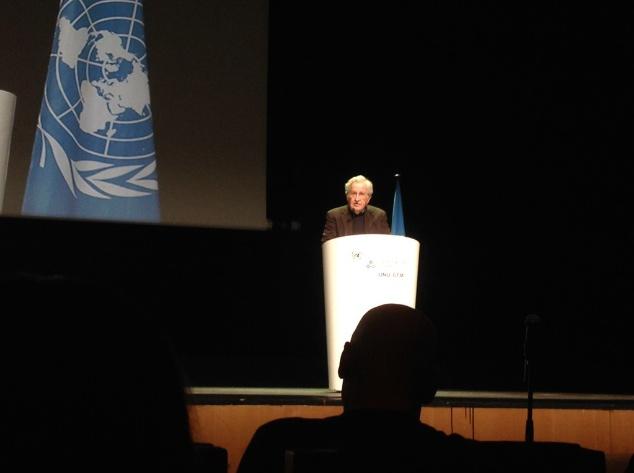 Noam Chomsky dissabte al Palau de Congressos de Barcelona