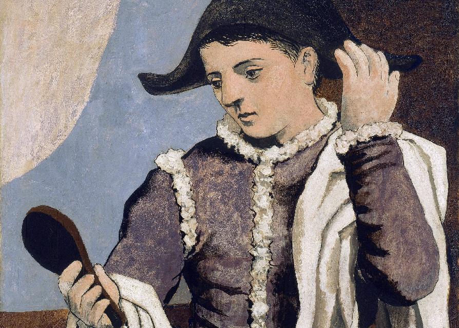 Arlequí amb mirall, 1923, de Pablo Ruiz Picasso