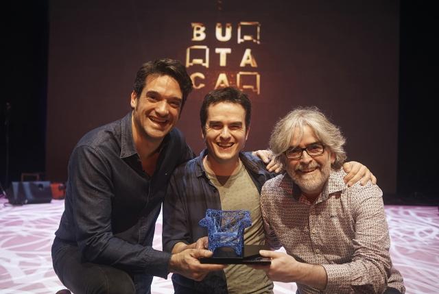 Els Farrés Brothers amb el seu Premi Butaca al Millor Espectacle Familiar. Xavier Bobés va guanyar el Butaca a Altres Disciplines amb 'Cosas que se olvidan fácilmente'. © Paco Amate