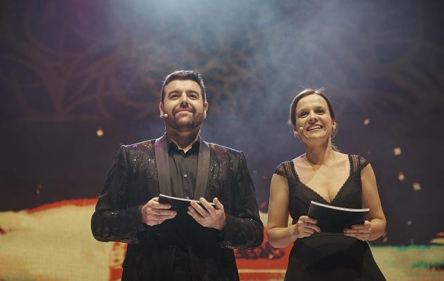 Toni Martín i Glòria Cid, els creadors i presentadors dels Premis Butaca. © Paco Amate