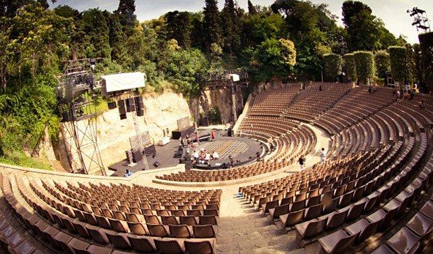 El teatre Grec de Barcelona, a Montjuïc