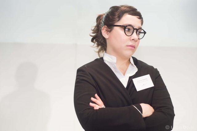 Victoria Casella és la soferta informadora a 'Diario de una orientadora de sala'. © Lucas Doyle