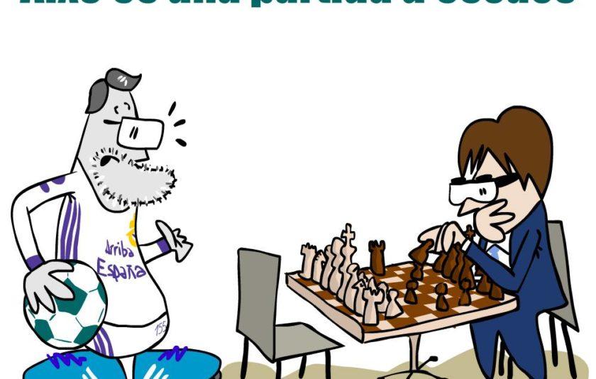 Això és una partida d'escacs