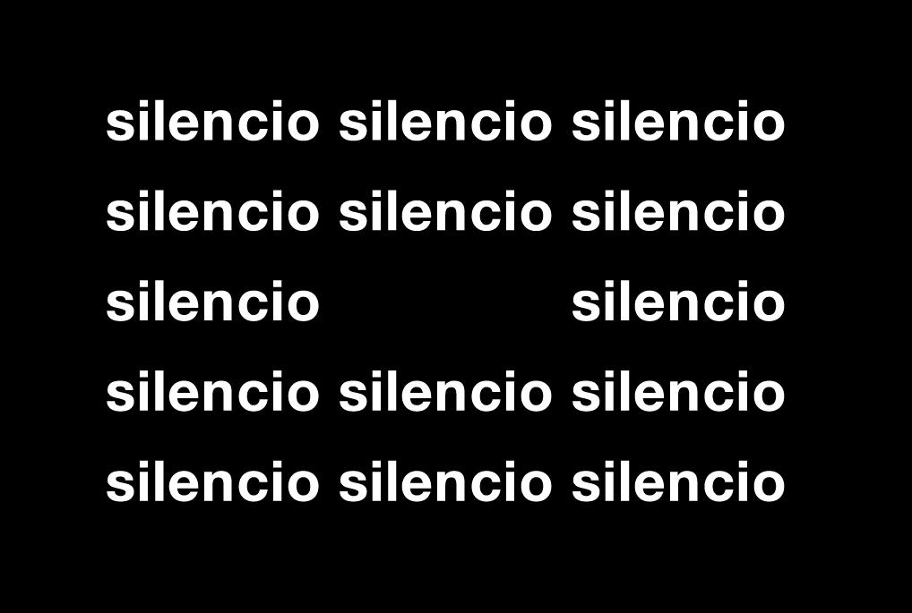 """Eugen Gomringer. """"En silencio"""", 1954"""