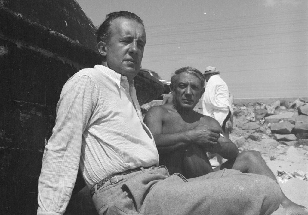 Paul Éluard i Pablo Picasso a la platja, setembre 1937. | Foto: © Eileen Agar © Tate